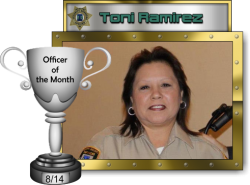 2014 - August - Officer of the Month - T-Ramirez