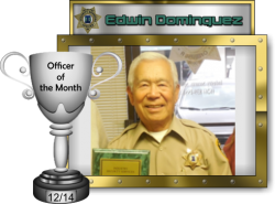 2014 - December - Officer of the Month - E-Dominguez