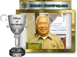 2014 - May - Officer of the Month - E-Dominguez