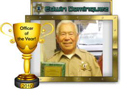 2010 - Officer of the Year - Edwin Dominguez