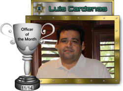 2014 - November - Officer of the Month - L-Cardenas
