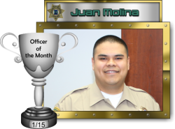 2015 - January - Officer of the Month - J-Molina