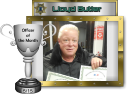 2015 - May - Officer of the Month - L-Butler