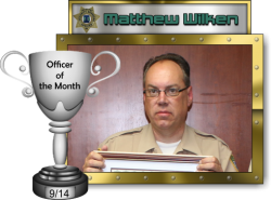 2014 - September - Officer of the Month - M-Wilken