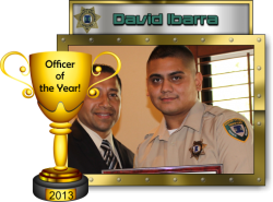 2013 - Officer of the Year - David Ibarra