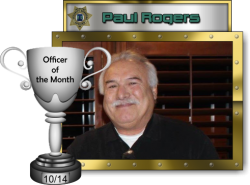 2014 - October - Officer of the Month -  P-Rogers