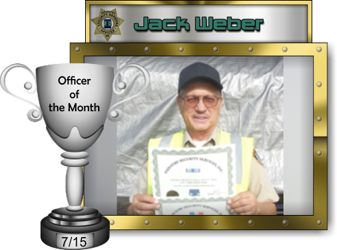 Officer of the Month - July 2015 - Jack Weber