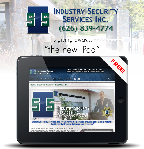 Free Ipad from ISSI for purchasing a new Annual Security Services Contract